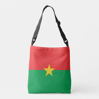 Burkina Faso Flag Crossbody Bag