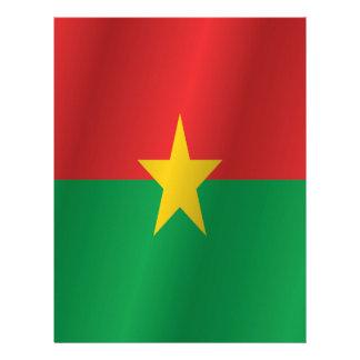 Burkina Faso flag Letterhead
