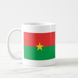 Burkina Faso Flag ~ Map Mug