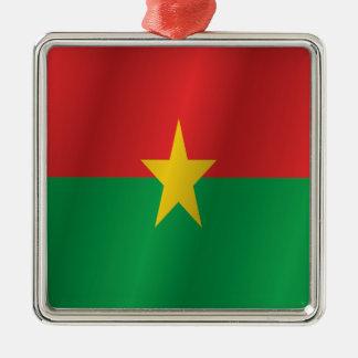 Burkina Faso flag Metal Ornament