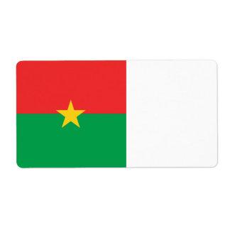 Burkina Faso Flag Shipping Label