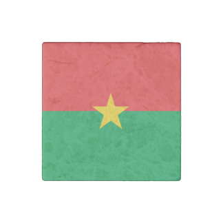 Burkina Faso Flag Stone Magnets