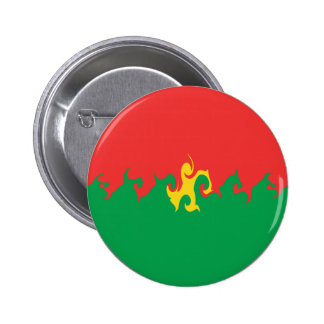 Burkina Faso Gnarly Flag 2 Inch Round Button