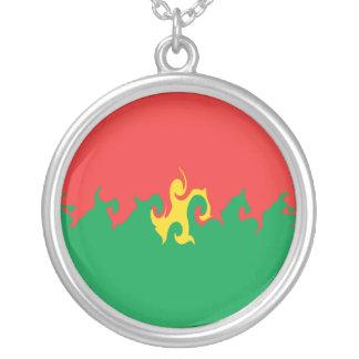 Burkina Faso Gnarly Flag Necklaces