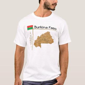 Burkina Faso Map + Flag + Title T-Shirt