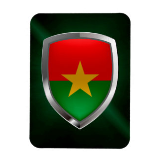 Burkina Faso Mettalic Emblem Rectangular Photo Magnet