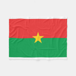 Burkina Faso National World Flag Fleece Blanket