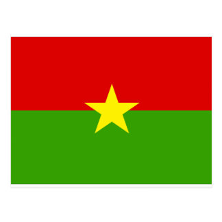 Burkina Flag Postcard