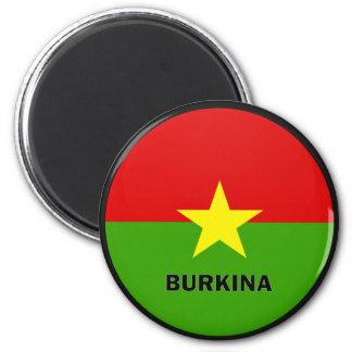 Burkina Roundel quality Flag 2 Inch Round Magnet