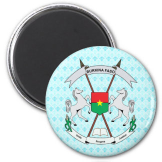 Burkinafaso Coat of Arms detail 2 Inch Round Magnet