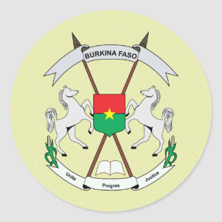 Burkinafaso Coat of Arms detail Classic Round Sticker