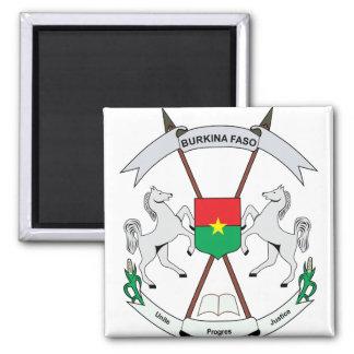 Burkinafaso Coat of Arms detail Square Magnet
