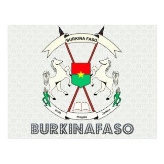 Burkinafaso High Quality Coat of Arms Postcard