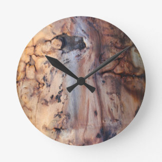 Burl Wood Design Clock