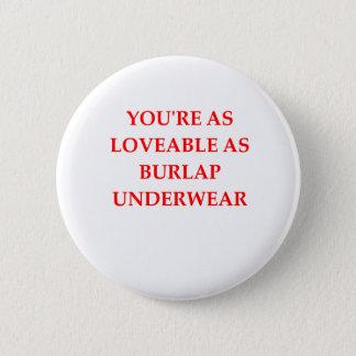 BURLAP 2 INCH ROUND BUTTON
