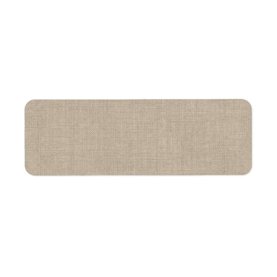 Burlap Address Label