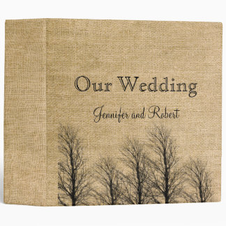 Burlap and Birch Posh Wedding Binder