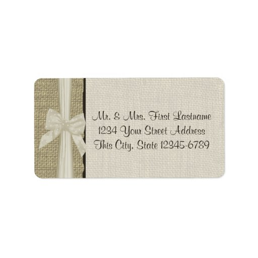Burlap and Bow Rustic Country Custom Address Labels