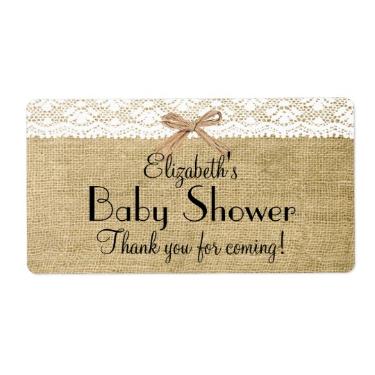 Burlap and Lace Baby Shower-Thank You