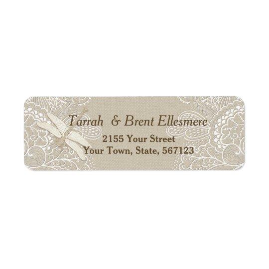 Burlap and Lace Rustic - Address Label Slim