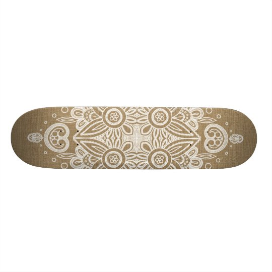 Burlap and Lace Skateboard