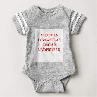 BURLAP BABY BODYSUIT