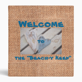 Burlap Beach House Binder