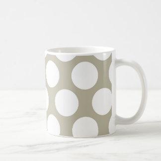Burlap Beige Polkadot Coffee Mug