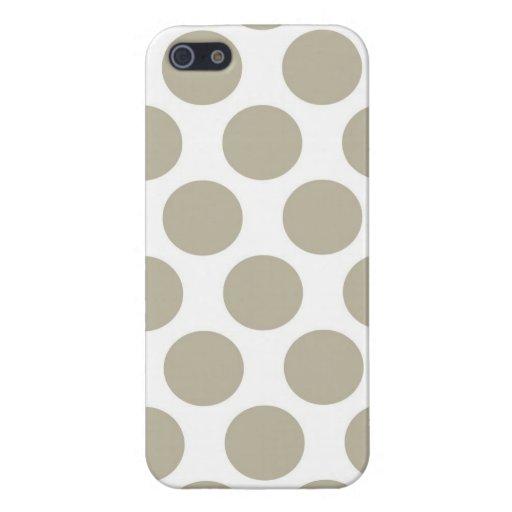 Burlap Beige Polkadot iPhone 5 Cases