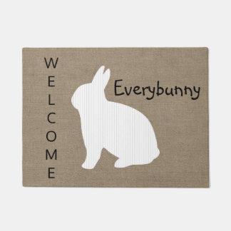 Burlap Bunny Doormat