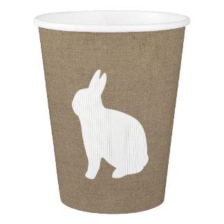 Burlap Bunny Paper Cup