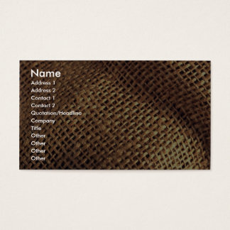 Burlap Business Card