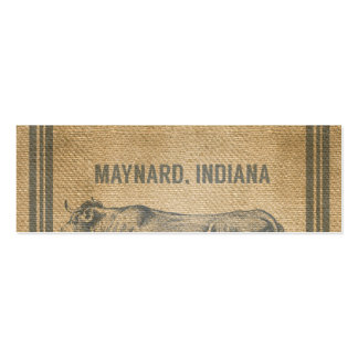 burlap cow feed sack business card templates