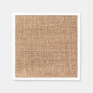 Burlap Fabric style Jute Look Paper Napkins