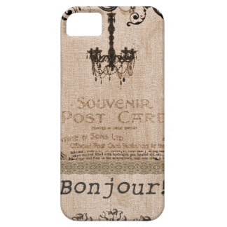 Burlap French Shabby Chic Iphone 5 Case