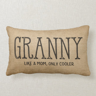 Burlap Granny Like a Mom only Cooler Lumbar Pillow