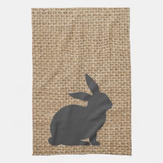 Burlap Grey Bunny Towel