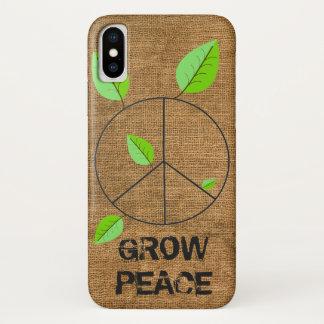 Burlap Grow Peace cell case
