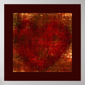 Burlap Heart Print (12x12)