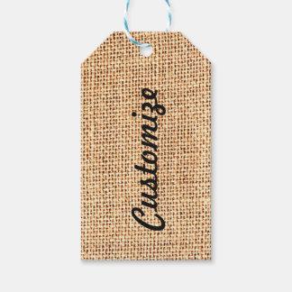 Burlap Jute Customized Gift Tag