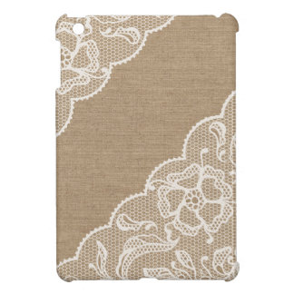 Burlap & Lace #3 iPad Mini Case
