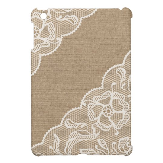 Burlap & Lace #3 iPad Mini Case