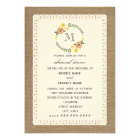 Burlap & Lace Inspired Fall Rehearsal Dinner Card