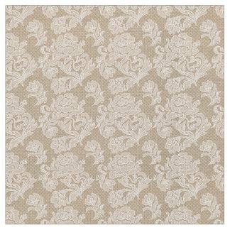Burlap & Lace Rose Fabric