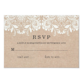Burlap & Lace RSVP Card