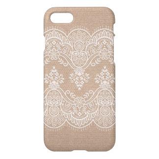 Burlap Linen and Lace iPhone Case