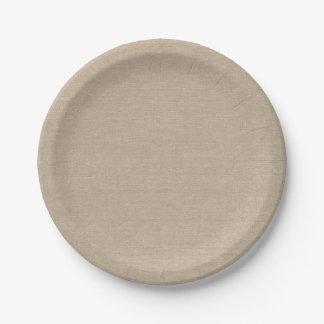 Burlap Look 7 Inch Paper Plate