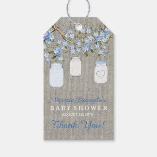 Burlap Mason Jar Baby Shower Pack Of Gift Tags