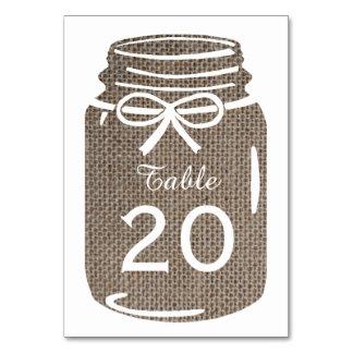 Burlap Mason Jar Wedding Card
