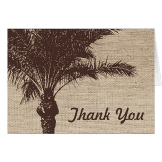 Burlap Palm Tree Brown Card